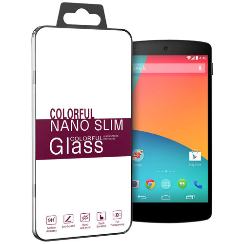 9H Tempered Glass Screen Protector for Google Nexus 5 - Clear